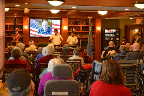 Heritage Senior Living Veterans Day Ceremony